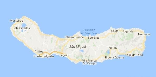 mapa dos açores s miguel ECORISMO   Mapas em São Miguel   Açores mapa dos açores s miguel
